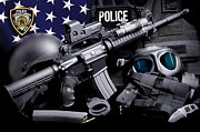 Law Enforcement Prints - NYPD Tactical Print by Gary Yost
