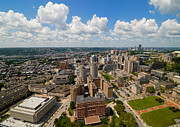 Aerial View Prints - Oakland Pitt Campus with city of PIttsburgh in the Distance Print by Amy Cicconi
