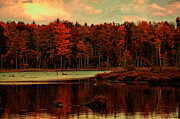 Branch Hill Pond Prints - Oakley Corners Pond Print by Jeff Van Syckle