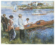 Boat Race Posters - Oarsmen at Chatou Poster by Pierre-Auguste Renoir