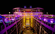 Deck Prints - Oasis of the Seas Nighttime Pool Deck Print by Amy Cicconi