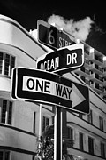6th Street Photo Posters - Ocean Drive And 6th Street In The Art Deco District Of Miami South Beach Florida Usa Poster by Joe Fox