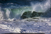 Shores Prints - Ocean Waves Print by Garry Gay