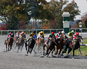 Keeneland Framed Prints - October Tradition Framed Print by Roger Potts