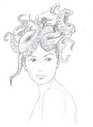 Octopus Drawings - Octopus Hat by Levon Saryan