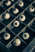 Depth Of Field Photos - Oddities Fake Eyeballs by Edward Fielding