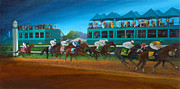 Kentucky Derby Painting Originals - Odds are Not by Sherryl Lapping