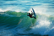 Santa Cruz Surfing Metal Prints - Off the Lip Metal Print by Paul Topp