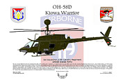 Regiment Digital Art Framed Prints - OH-58D Kiowa Warrior Framed Print by Arthur Eggers