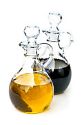 Decanter Framed Prints - Oil and vinegar Framed Print by Elena Elisseeva
