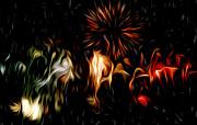 Oil Fireworks Print by Stefan Petrovici