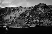Norwegian Fishing Village Prints - Oksfjord During Winter Norway Europe Print by Joe Fox