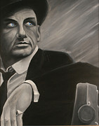 Frank Sinatra Painting Originals - Ol Blue Eyes by Matthew Young