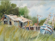 Old Barn Paintings - Old and Rusty by Bobby Walters