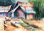 Old Barns Painting Prints - Old Barn Print by Bette Orr