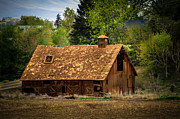Haybales Framed Prints - Old Barn Framed Print by Robert Bales