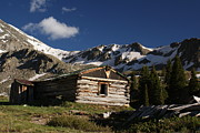 Rocky Mountains Framed Prints - Old Cabin in Rocky Mountains Framed Print by Michael J Bauer