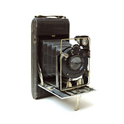 Nostalgia Photo Framed Prints - Old camera Framed Print by Bernard Jaubert