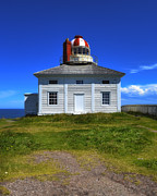 Old Labrador Posters - Old Cape Spear Lighthouse Poster by Steve Hurt