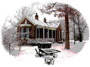 Christmas Card Photo Originals - Old Country Home by John Lautermilch