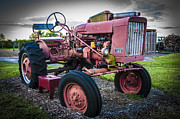 Machinery Photo Posters - Old Farm Tractor Farmall 140 IH Poster by Rich Franco