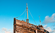 Wooden Ship Prints - Old fishing boat Print by Tom Gowanlock