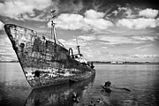 Shipwreck Art - Old fishing ship wreck by Lusoimages