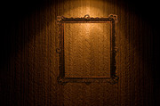 Wallpaper Art - Old frame on retro wall by Michal Bednarek