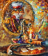 Gato Paintings - Old General by Leonid Afremov