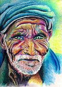 Turban Pastels Framed Prints - Old Man Framed Print by Carey Alcott