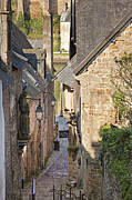 Archetypal Photo Prints - Old medieval street scene St Goustan Auray Morbihan Brittany France Print by Jon Boyes