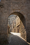 Archetypal Photo Prints - Old medieval street scene Vannes Brittany France Europe Print by Jon Boyes