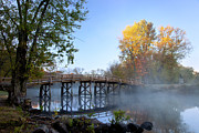 New England Fall Shots Photos - Old North Bridge Concord by Brian Jannsen