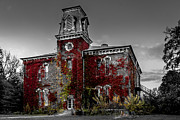 Red School House Metal Prints - Old School House Metal Print by Dawn M Smith