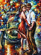 Old Automobile Prints - Old Tango Print by Leonid Afremov