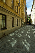 Cobblestone Prints - Old Town Sweden Print by Micah May