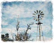 William Havle Art - Old West Wind Wheel by William Havle