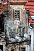 Red Roof Photos - Old World Balcony by John Rizzuto