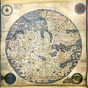 World Map Print Photo Prints - Old World Vintage Map Print by Inspired Nature Photography By Shelley Myke