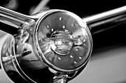 Oldsmobile Photos - Oldsmobile Steering Wheel Emblem by Jill Reger