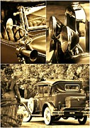 Weels Prints - Oldtimer collage Print by Werner Lehmann