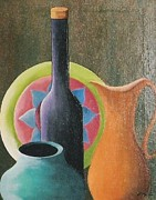 Pottery Pitcher Originals - Ole Pottery by Peggy Martin