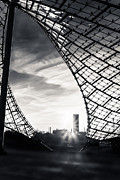Glas Prints - Olympiastadium - The Roof  Print by Hannes Cmarits