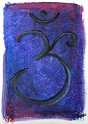 Vibrant Colors Pastels Prints - Om Chakra Print by J Dames