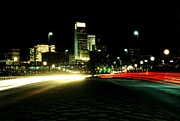 Omaha Art - Omaha skyline at night by Jetson Nguyen