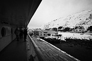 Observation Photos - On Board Hurtigruten Passenger Ship Docked In Havoysund During Winter Norway Europe by Joe Fox