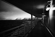 Open Area Prints - On Board Hurtigruten Passenger Ship Sailing Through Fjords During Winter Norway Europe Print by Joe Fox