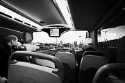 Deuce Prints - on board the top deck of the deuce bus travelling along the strip Las Vegas Nevada USA Print by Joe Fox