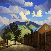 Mountains Painting Posters - On the Road to Lilis Poster by Art West