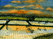 Rice Field Paintings - On The Way To Ubud IV Bali Indonesia by Melly Terpening